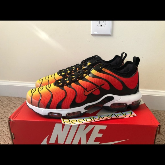 Nike Shoes Air Max Plus Tn Ultra Orange Black Mens Sizes Poshmark